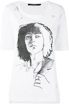 John Richmond sketch T-shirt - women - Cotton - M