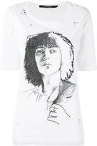 John Richmond sketch T-shirt - women - Cotton - S