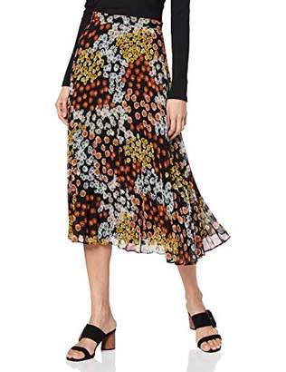 Warehouse Women's Cutabout Daisy Print Pleated Midi Skirt