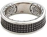 John Hardy Rhodium silver dotted jawan ring