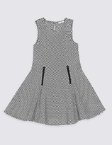 Marks and Spencer Textured Ponte Dress (3-14 Years)