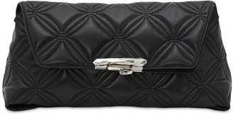Alexander McQueen Ring Soft Quilted Leather Pouch