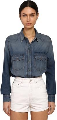 Givenchy Oversize Cotton Denim Shirt