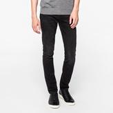 Paul Smith Men's Slim-Fit Mid-Wash Black Stretch-Denim Jeans