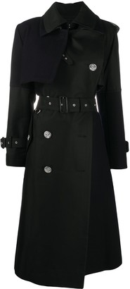 Sacai Belted Double-Vent Trench Coat