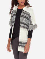 The Limited Patterned Fringe Cardigan