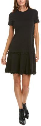 Derek Lam 10 Crosby Ruffle T-Shirt Dress
