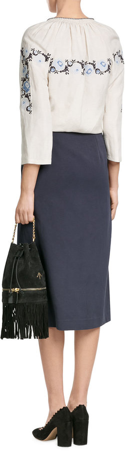 Vilshenko Cotton Mini-Skirt
