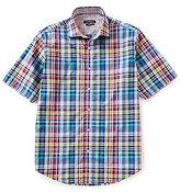 Bugatchi Classic-Fit Plaid Short-Sleeve Woven Shirt