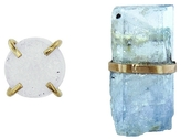 Melissa Joy Manning Aquamarine and Druzy Mismatch Stud Earrings