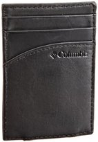 Columbia Men's Leather Magnetic Card Case Wallet