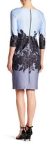 Taylor Scuba Placement Print Sheath Dress