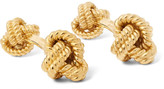 Tom Ford Gold-Tone Silver Knot Cufflinks