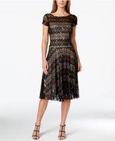 Sangria Sequined Lace Midi Dress