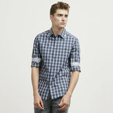 Kenneth Cole New York Two-Pocket Tonal Check Button-Down Shirt