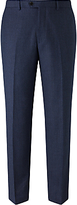 John Lewis Super 100s Wool Milled Birdseye Tailored Suit Trousers, Blue