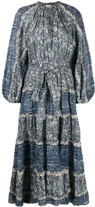 Ulla Johnson Anzu marble-print midi dress