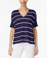 Eileen Fisher Organic Linen-Cotton Striped Sweater, Regular & Petite