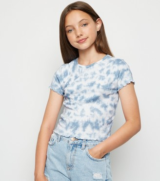 New Look Girls Tie Dye Ribbed T-Shirt