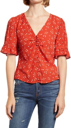 Madewell Polka Dot Daylight Top