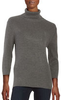 Highline Collective Ribbed-Knit Turtleneck Top