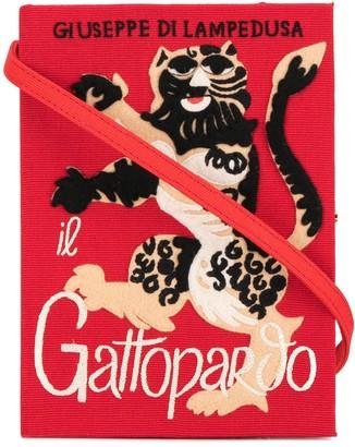 Olympia Le-Tan Gatopardo book clutch