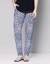 Print Stretch Jersey Harem Pants