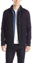 Kenneth Cole New York Kenneth Cole Men's Knit Denim Barn Jacket