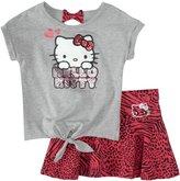 Hello Kitty Skirt Set (Toddler/Kids) - Deep Fuchsia-3T