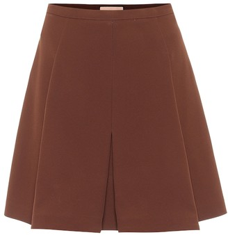 Plan C Box-pleated high-rise miniskirt