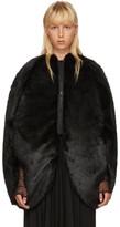 Junya Watanabe Black Faux-fur Coat