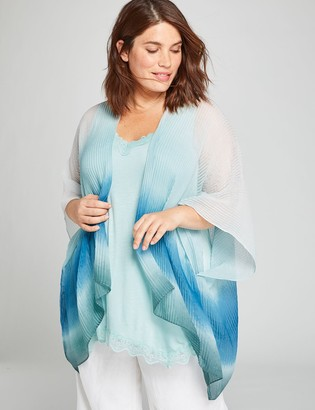 Lane Bryant Pleated-Texture Ombre Overpiece