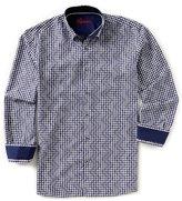 Visconti Chevron Dobby Long-Sleeve Woven Shirt