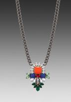 Dannijo Phoebe Necklace in Orange/Multi