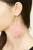 Forever 21 FOREVER 21+ Pom-Pom Drop Earrings