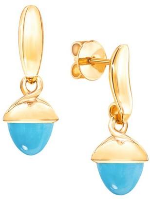 Tamara Comolli Mikado Flamenco 18K Yellow Gold & Turquoise Acorn Earrings