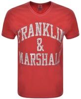 Franklin & Marshall Franklin Marshall Crew Neck Logo T Shirt Red
