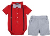 Andy & Evan Infant Boy's Polo Shirtzie Bodysuit & Shorts Set