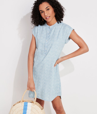 Vineyard Vines Printed Chambray Dolman Sleeve Margo Shirt Dress