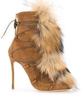 DSQUARED2 Faux-Fur Embellished Boots