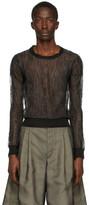 Maison Margiela Black Knit Pullover