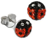 SilberDream Children's Stud Earrings 925 Sterling Silver and Zirconia VGSO604O orange