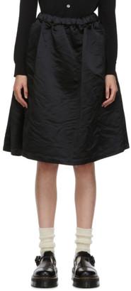 COMME DES GARÇONS GIRL Black Satin Ruffle Hem Skirt
