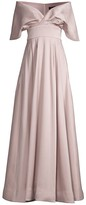 Thumbnail for your product : Aidan Mattox Off-The-Shoulder Cape Gown