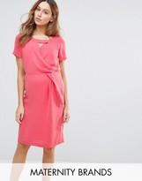 Mama Licious Mama.licious Mamalicious Maternity Nursing Dress With Cut Out Neckline