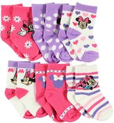 "Disney Minnie Mouse ""Celebrate!"" 6-Pack Crew Socks"