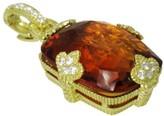 Judith Ripka 18K Yellow Gold Diamond Madeira Citrine Pendant