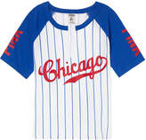 PINK Chicago Cubs Shrunken Raglan Tee