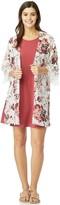 Wallflower Juniors' WallFlower Solid Swing Dress & Printed Kimono Set