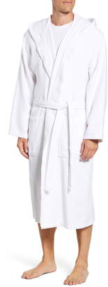 Daniel Buchler Basket Weave Hooded Cotton Terry Robe